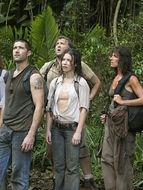 photo, Evangeline Lilly, Terry O'Quinn, Matthew Fox, Jorge Garcia