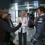 Photo Morten Tyldum, Chris Pratt, Jennifer Lawrence