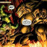 Comics Hulk et une représentation de son père