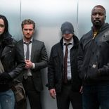 Photo Finn Jones, Krysten Ritter, Charlie Cox, Mike Colter, The Defenders saison 1