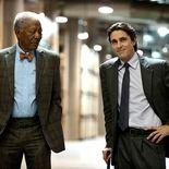 photo, Christian Bale, Morgan Freeman