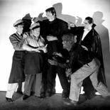 photo, Bela Lugosi, Lon Chaney Jr., Bud Abbott, Lou Costello, Glenn Strange