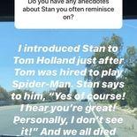 Stan lee n'aime pas Tom Holland