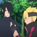 Boruto et son mentor Sasuke