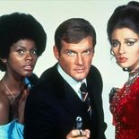 photo, Roger Moore, Jane Seymour, Gloria Hendry
