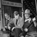 photo, John Ford, John Wayne, James Stewart