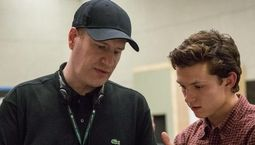 Kevin Feige et Tom Holland