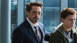 Photo Robert Downey Jr., Tom Holland, Jon Favreau