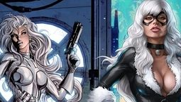 Photo Black Cat & Silver Sable