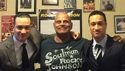 Photo, Justin Gajewski et Rocky Johnson