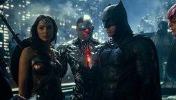Photo Gal Gadot, Ben Affleck, Ezra Miller, Ray Fisher, Zack Snyder's Justice League