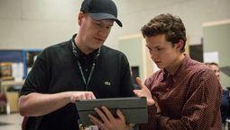 Kevin Feige et Tom Holland