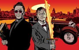 Après American Gods, Neil Gaiman revient avec la première image de la série De Bons Présages