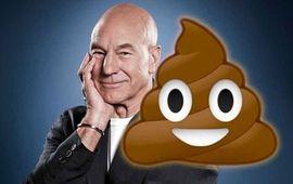 Patrick Stewart sera un caca qui parle dans Le monde secret des Emojis