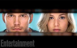 """Passengers : premières photos du """"Gravity avec de la romance"""", avec Jennifer Lawrence et Chris Pratt"""