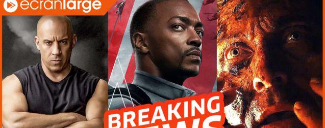 Fast & Furious 9 veut tout casser, Falcon et le Soldat de l'Hiver en 100% Marvel, Shyamalan de retour avec Old