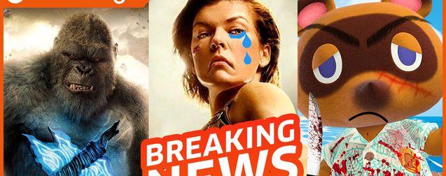 Godzilla vs Kong vs la critique, Resident Evil dévoile son reboot, Animal Crossing en film d'horreur