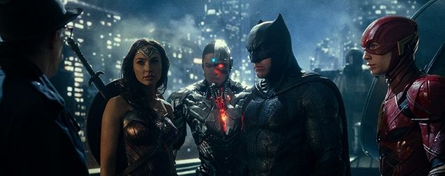 Photo Gal Gadot, Ben Affleck, Ezra Miller, Ray Fisher, Zack Snyder's Justice League