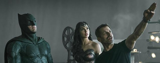 Photo Gal Gadot, Zack Snyder, Ben Affleck, Zack Snyder's Justice League