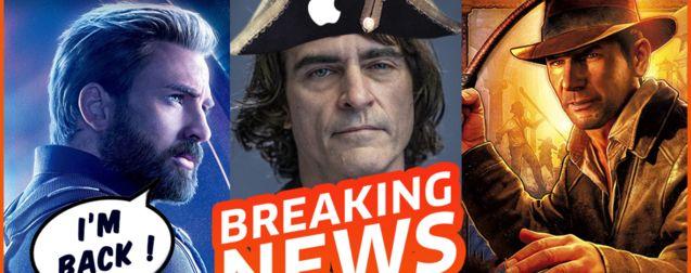 Captain America de retour, Joaquin Phoenix en Napoléon, le futur d'Indiana Jones et Star Wars