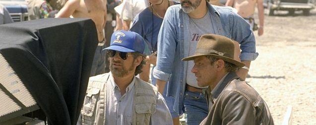 Photo Harrison Ford, Indiana Jones, George Lucas