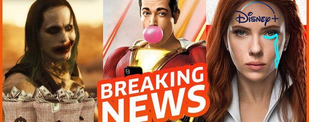 Le Snyder cut cartonne en France, DC recrute des acteurs de prestige, Black Widow privé de cinéma ?