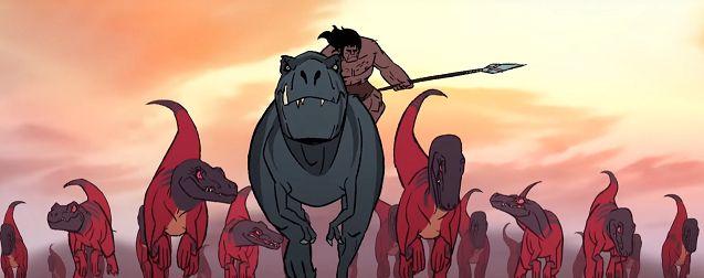 Primal Saison 1 : critique qui donne sa langue au T-Rex
