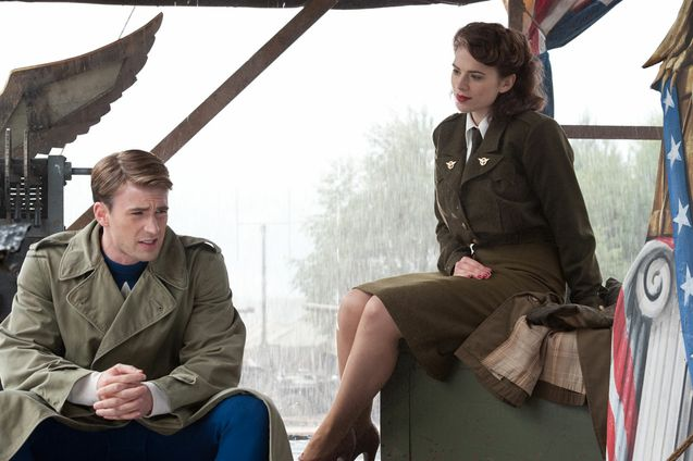 Photo Chris Evans, Hayley Atwell