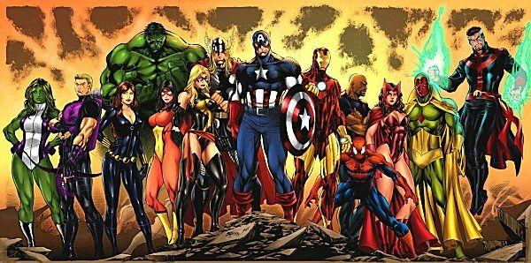 Photo groupe Avengers
