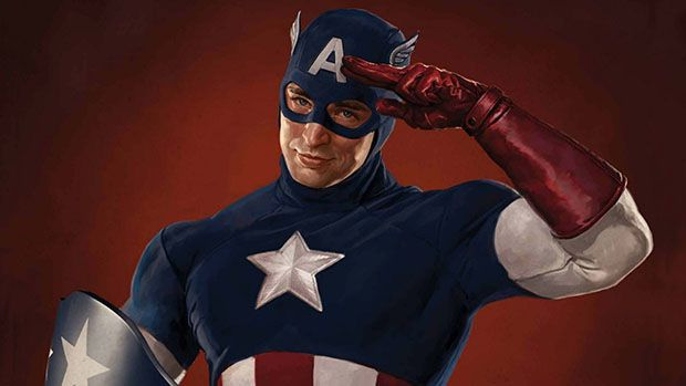 Photo Artwork rétro captain america