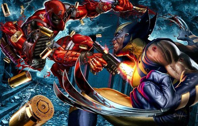Photo Deadpool vs Wolverine
