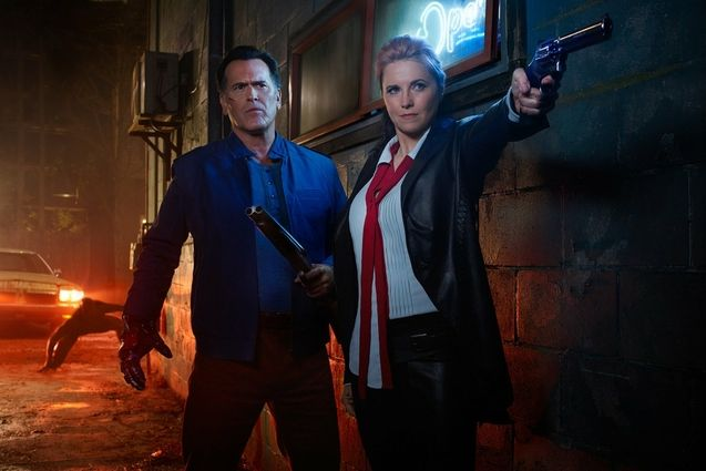 Photo Bruce Campbell, Lucy Lawless