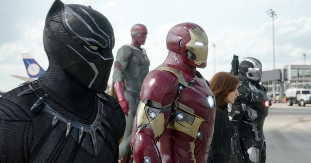 Photo Iron Man, Black Panther, Vision