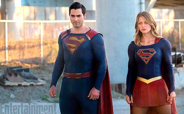 Photo Superman et Supergirl