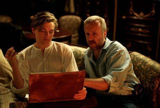 Photo James Cameron, Leonardo DiCaprio