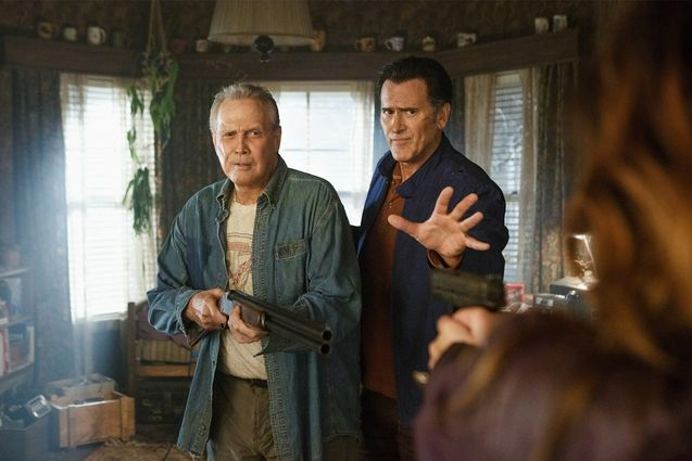 Photo Bruce Campbell, Lee Majors