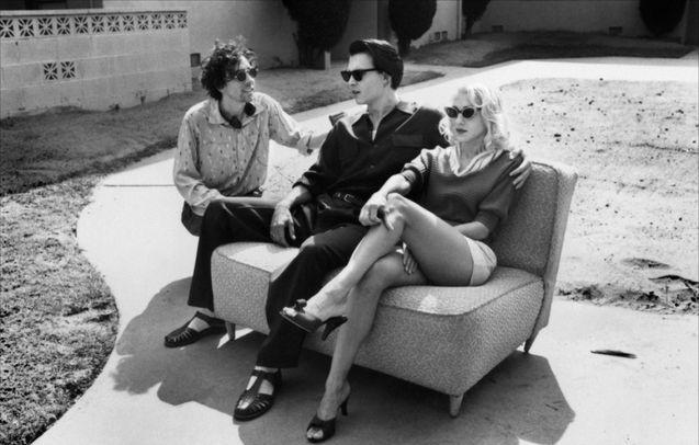 Photo Johnny Depp, Sarah Jessica Parker, Tim Burton