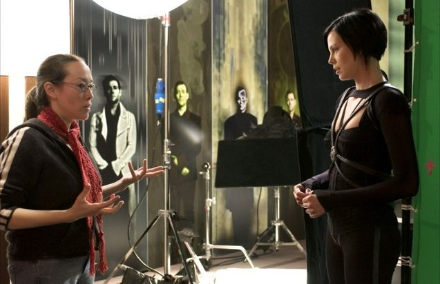 Photo Charlize Theron, Karyn Kusama