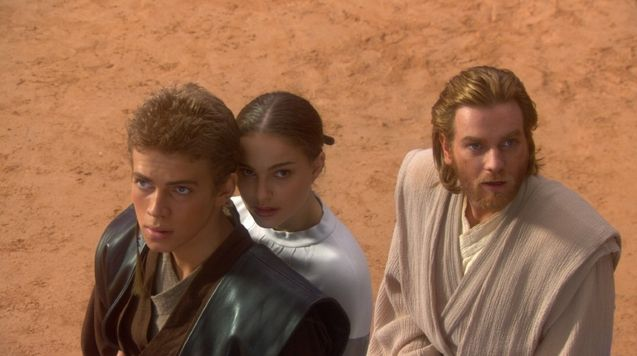 Photo Hayden Christensen, Ewan McGregor, Natalie Portman