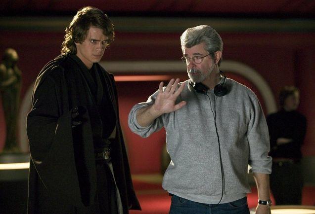 Photo Hayden Christensen, George Lucas