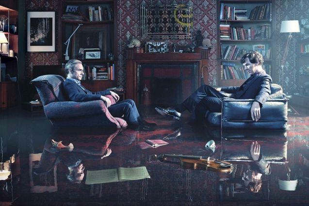 Photo Benedict Cumberbatch, Martin Freeman