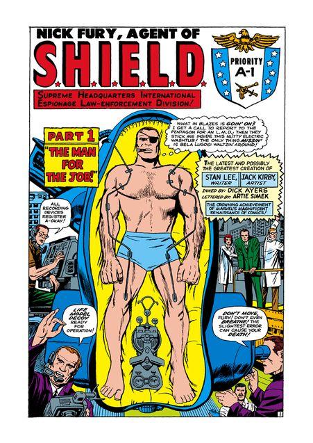 Photo Recopie de Nick Fury en LMD (comics)