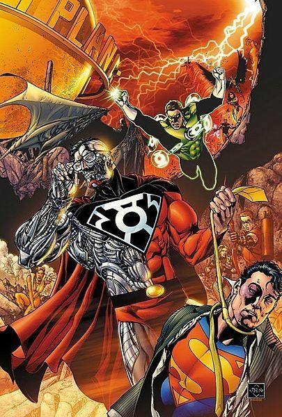 Superman & Green Lantern VS Cyborg Superman Comics