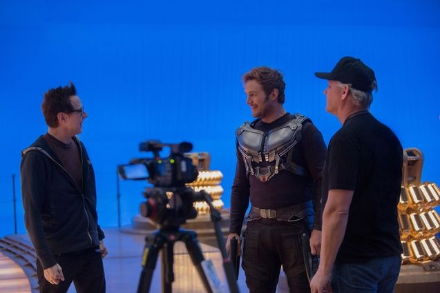 Photo James Gunn, Chris Pratt