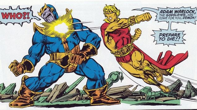 Photo Thanos, Adam Warlock (comics)