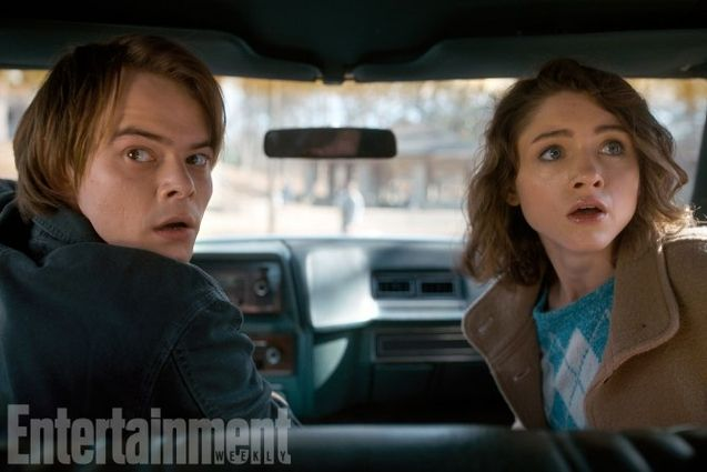 Photo Natalia Dyer, Charlie Heaton