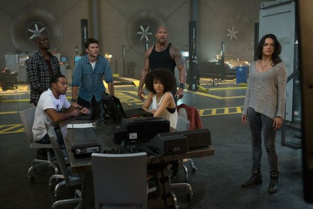 Photo Dwayne Johnson, Ludacris, Michelle Rodriguez, Nathalie Emmanuel, Scott Eastwood