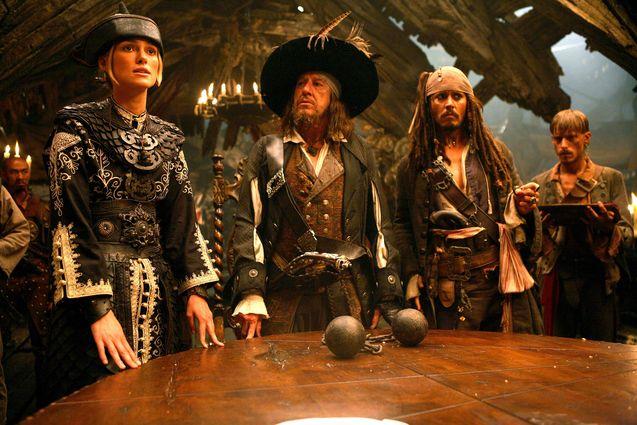 Photo Johnny Depp, Keira Knightley, Geoffrey Rush
