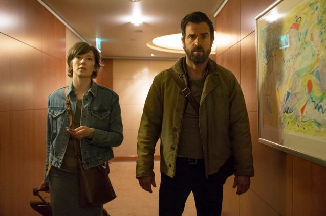 Photo Justin Theroux - Carrie Coon