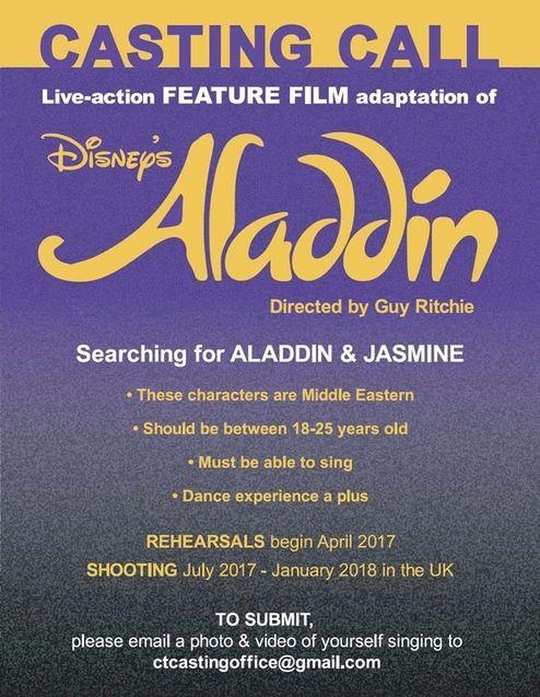 Photo casting Aladdin